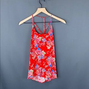 NWT floral strapy tank